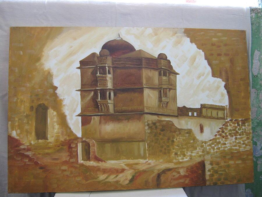 Kumbha Mahal Painting by Gayatri Maheshwari