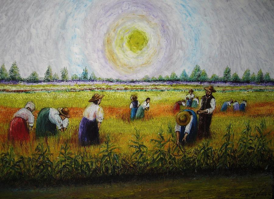 Campagna Painting - La Risaia by Luca Corona