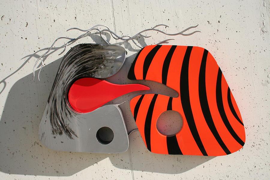 Metal Sculpture - La Tigre E L Alieno by Oreste Minini