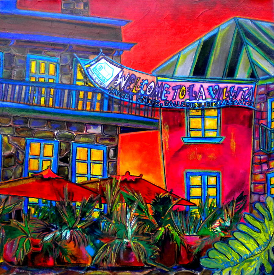 San Antonio Painting - La Villita Entrance by Patti Schermerhorn