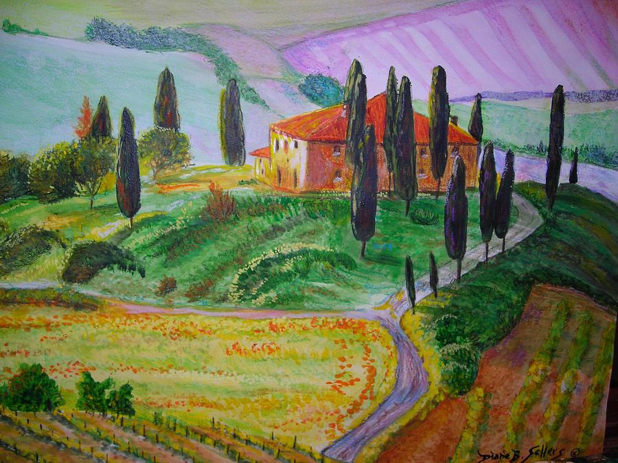 Landscapes Painting - La Vita E Bella  by Diane Sellers