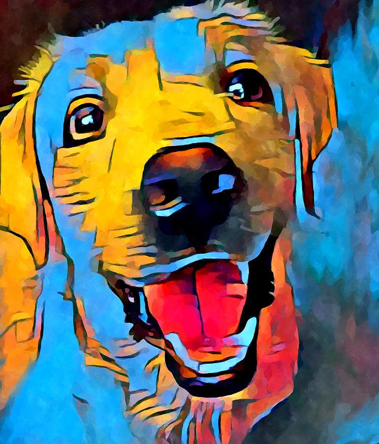 Labrador Painting - Labrador Retriever 2 by Chris Butler