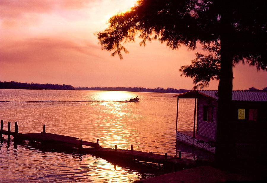 Sunset Photograph - Lake Chicot Sunset by John Foote
