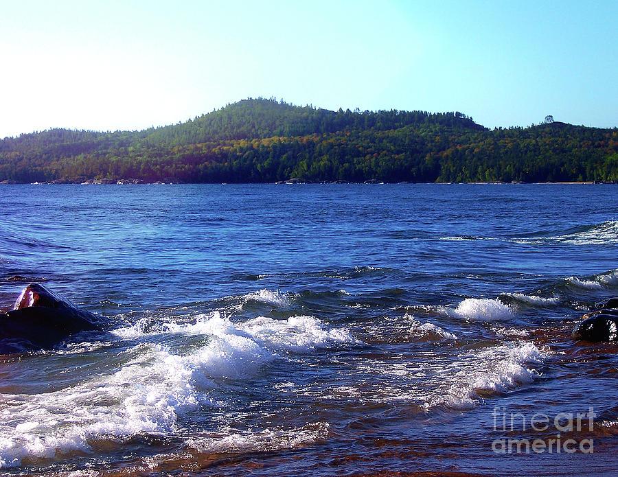 Lake Superior Digital Art - Lake Superior Landscape by Phil Perkins
