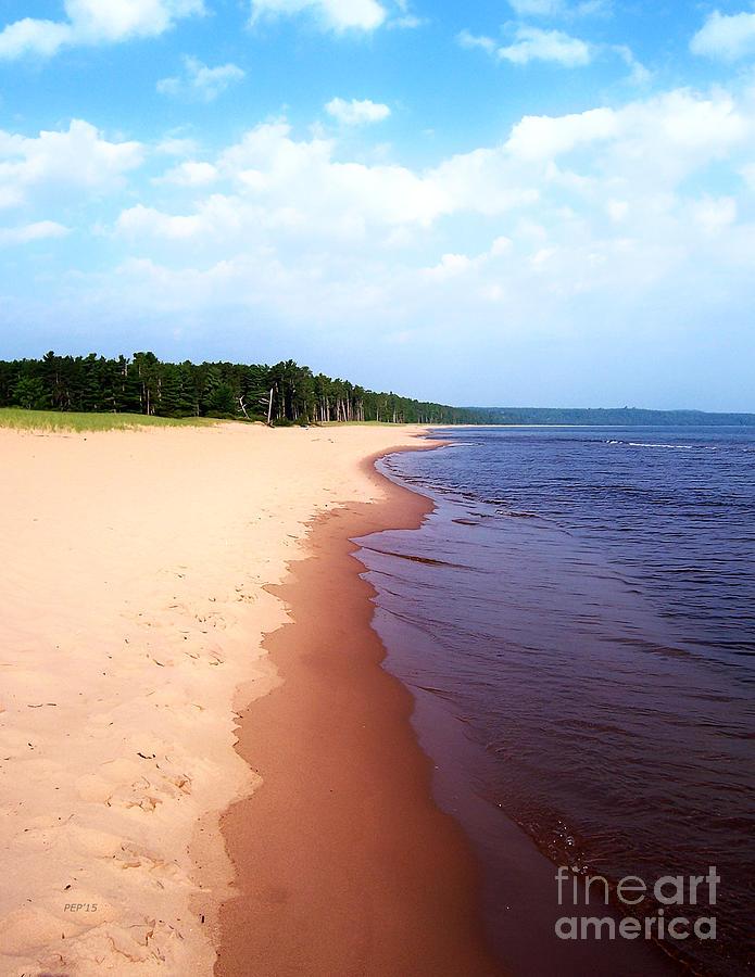 Lake Superior Photograph - Lake Superior Shoreline by Phil Perkins