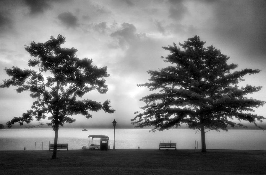 Town Photograph - Lakeside Park I by Steven Ainsworth