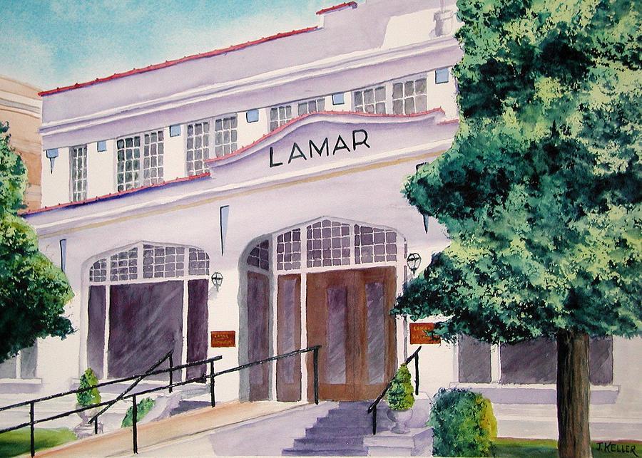 Hot Springs National Park Painting - Lamar Bathhouse by John Keller
