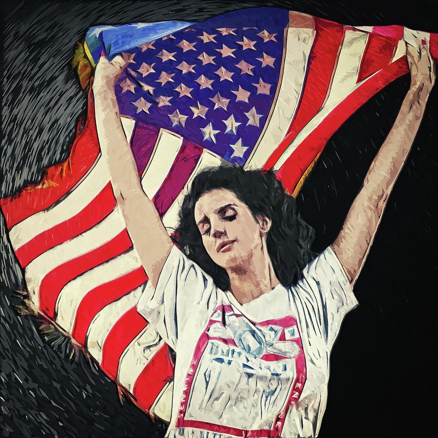 Lana Del Rey Digital Art