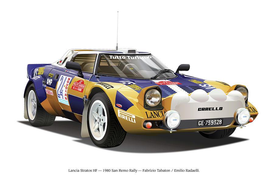 Lancia Stratos Hf Digital Art by Alain Jamar