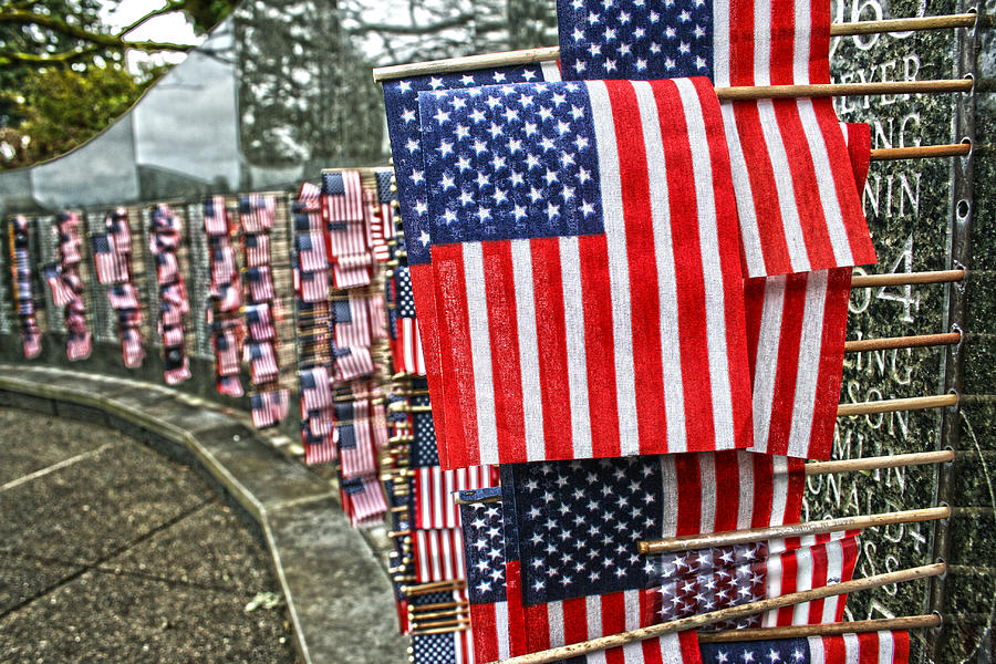 Flag Photograph - Land Of The Free by Kerry Langel
