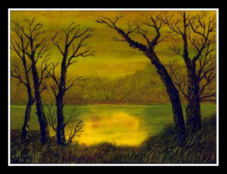 Landscape Painting - Landscape by Asif Kasi