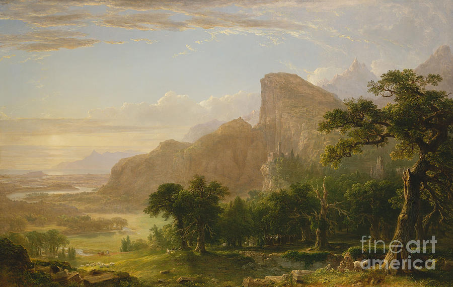 1850 Painting - Landscape Scene From Thanatopsis by Asher Brown Durand