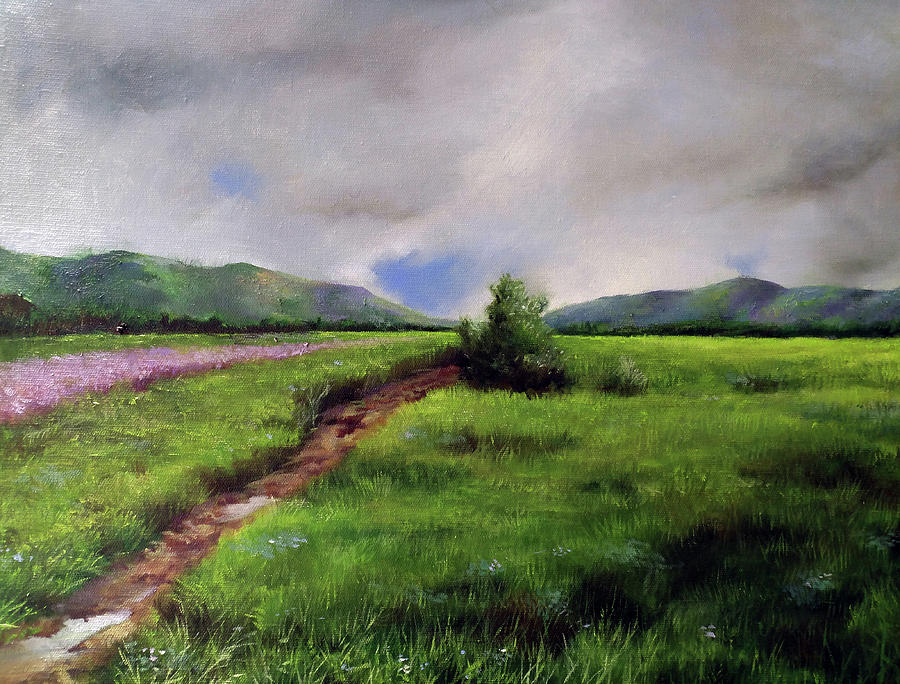 Landscape Sketching Painting by Li Huaipeng