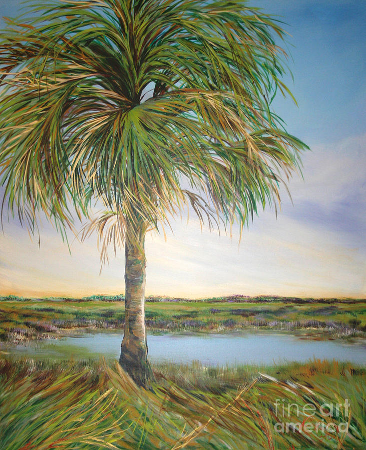 Palm Painting - Large Palm by Michele Hollister - for Nancy Asbell