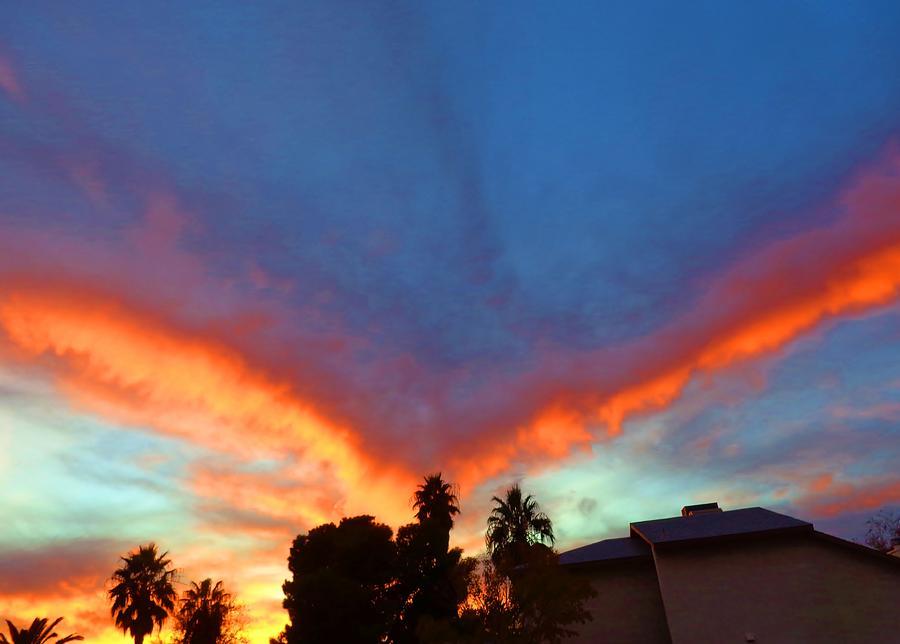 Sunset Digital Art - Las Vegas Sunset by Vilma Zurc