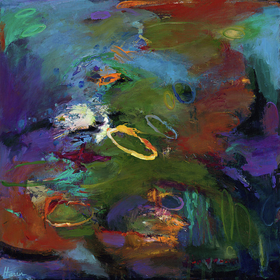 Vibrant Color Painting - Late Last Night by Johnathan Harris