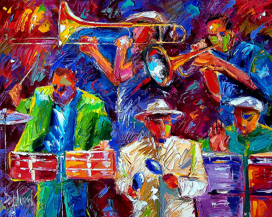 Latin Music Painting - Latin Jazz by Debra Hurd