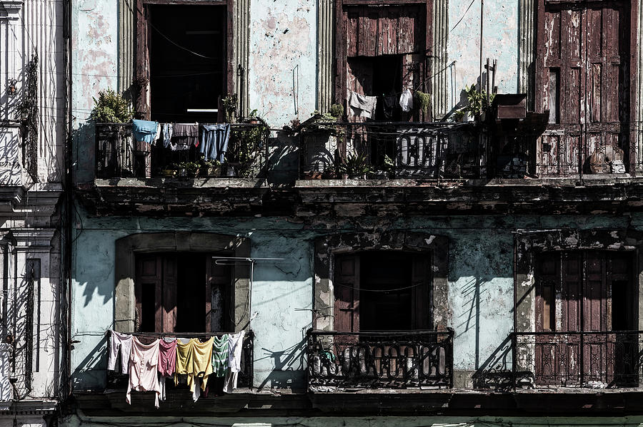 Prado Photograph - Laundry Day In Havana by Mountain Dreams
