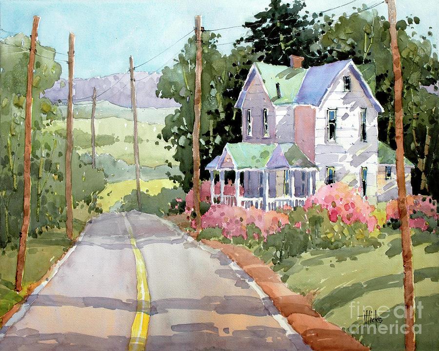 Pennsylvania Painting - Laurel Mountain Highlands Farm by Joyce Hicks