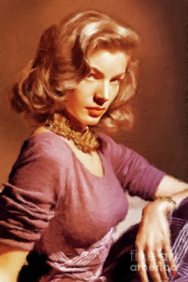 Lauren Bacall Vintage Hollywood Actress Painting