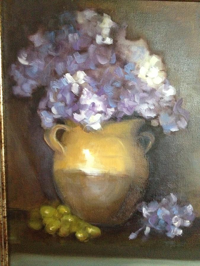Lavender Ice Painting by Cynthia Mozingo