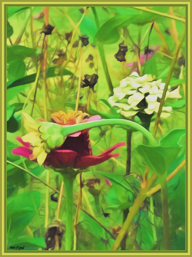 Floral Mixed Media - Lean On Me by Debra Lynch