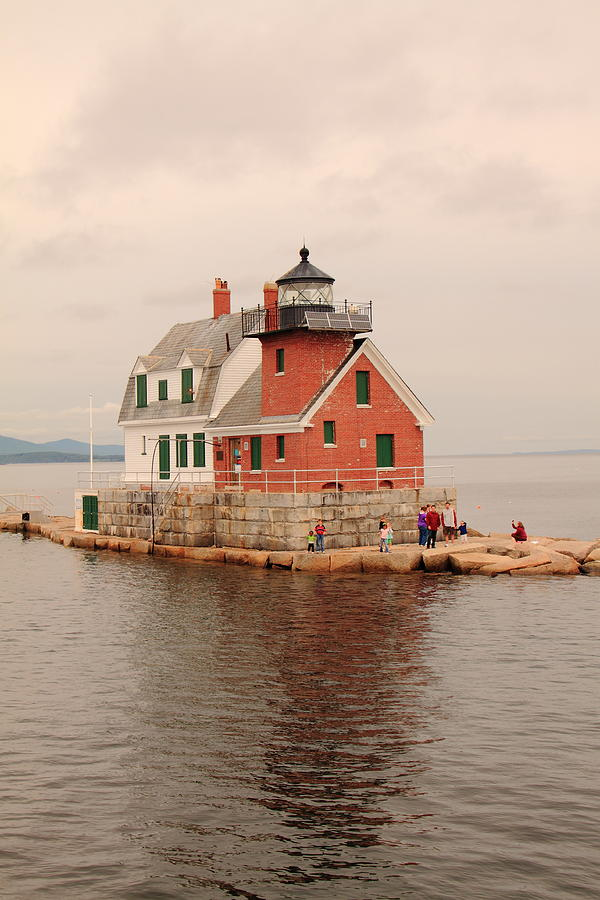 Lighthouse Photograph - Leaving Rockland by Doug Mills
