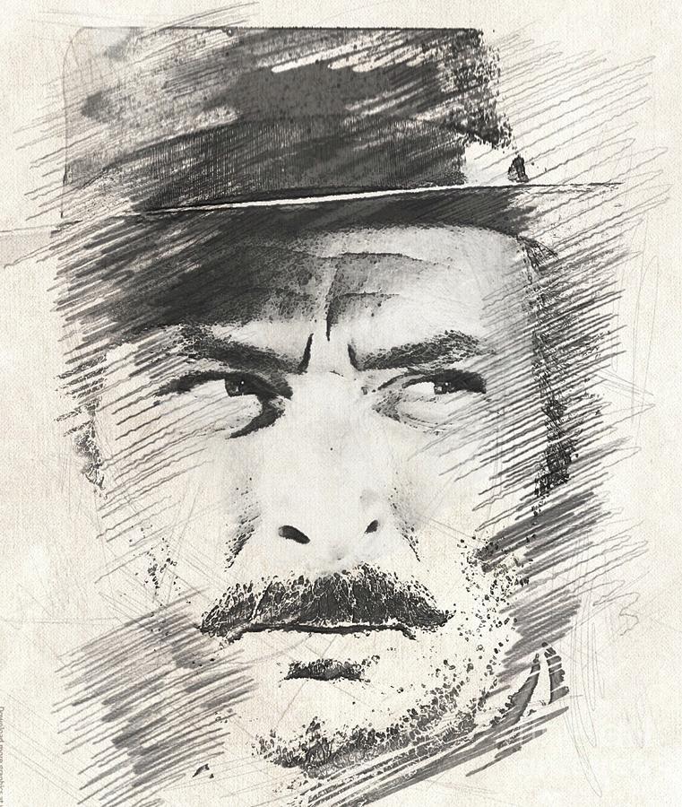 Lee Van Cleef, Actor Drawing