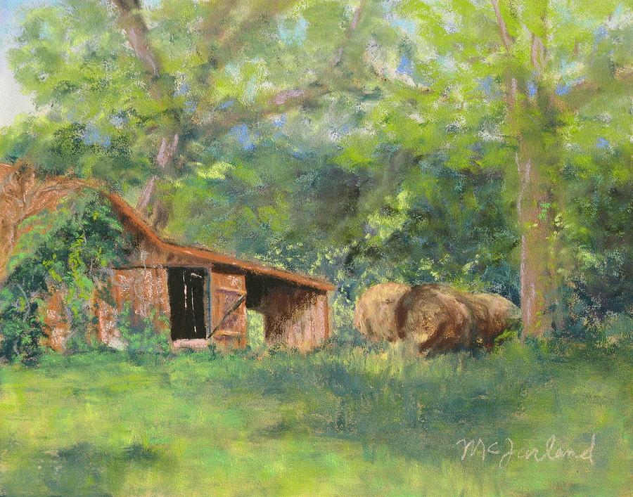Barn Pastel - Leftover Hay by Lorraine McFarland