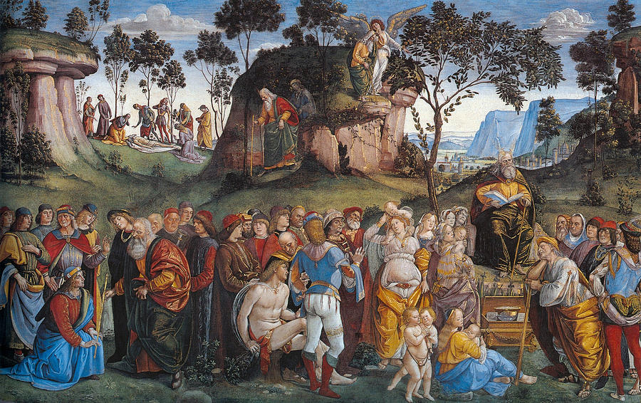Angel Painting - Legacy And Death Of Moses by Luca Signorelli