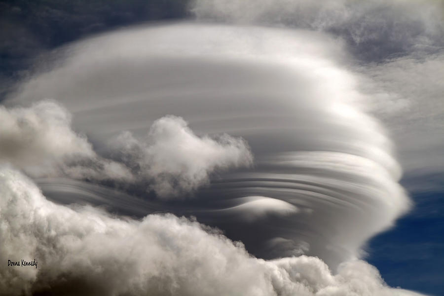 Lenticular Clouds Photograph - Lenticular Clouds by Donna Kennedy