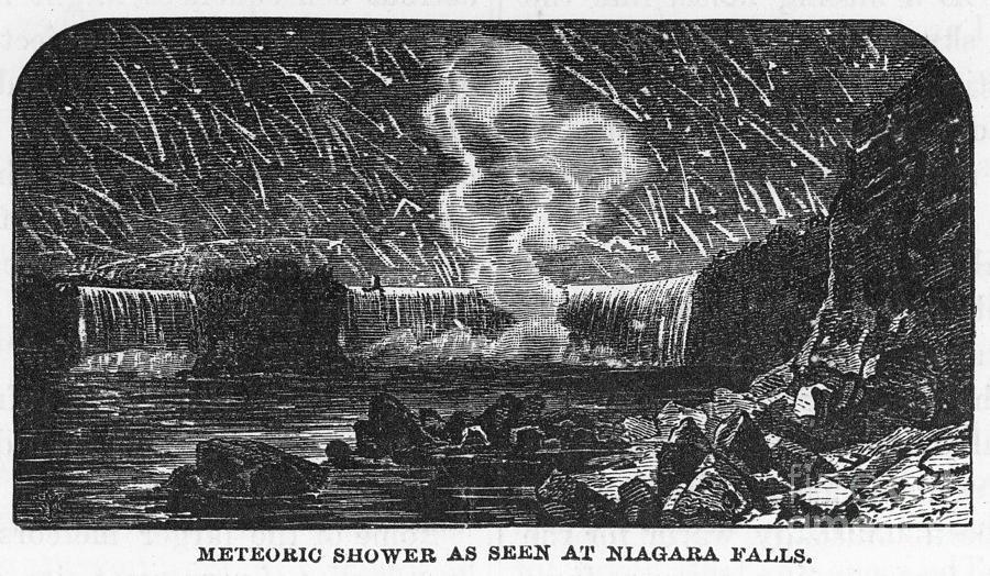 1833 Photograph - Leonid Meteor Shower, 1833 by Granger