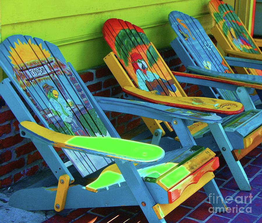 Chairs Photograph - License To Chill by Debbi Granruth
