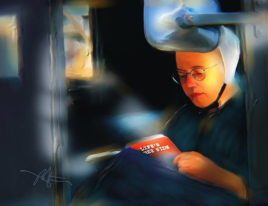 Amish Painting - Lifes Other Side by Bob Salo