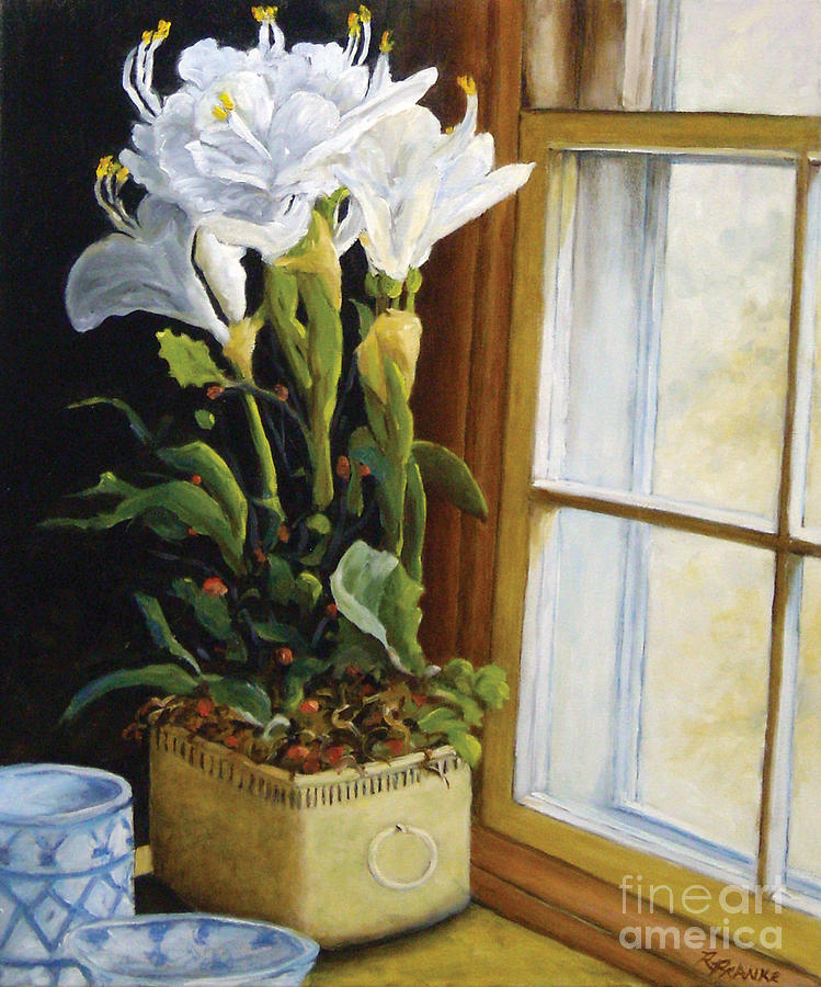 Painting Painting - Lillies by Richard T Pranke