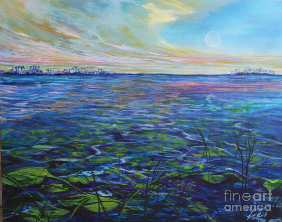 Lillies Painting - Lilly Pads  by Michele Hollister - for Nancy Asbell