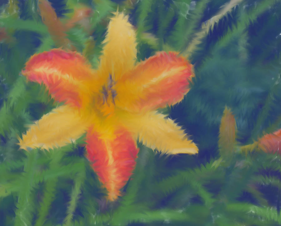 Lily Mixed Media by Lisa Hebert
