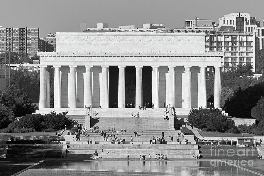 Lincoln Memorial And Reflecting Pool Washington Dc Photograph