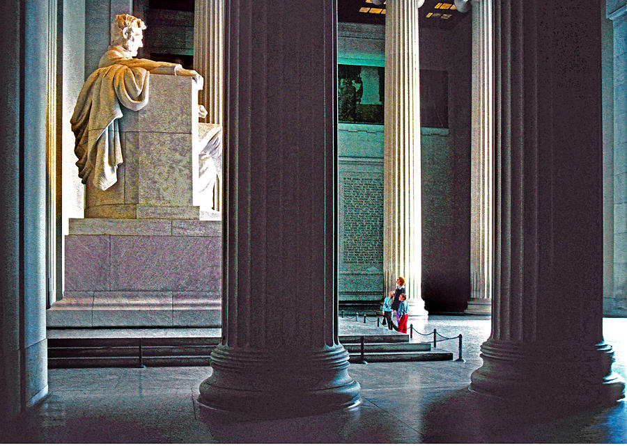 Usa Photograph - Lincoln Memorial by Dennis Cox