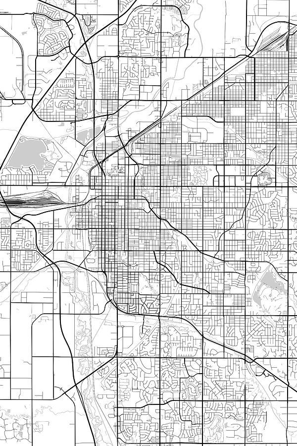 Lincoln Nebraska Usa Light Map Digital Art by Jurq Studio