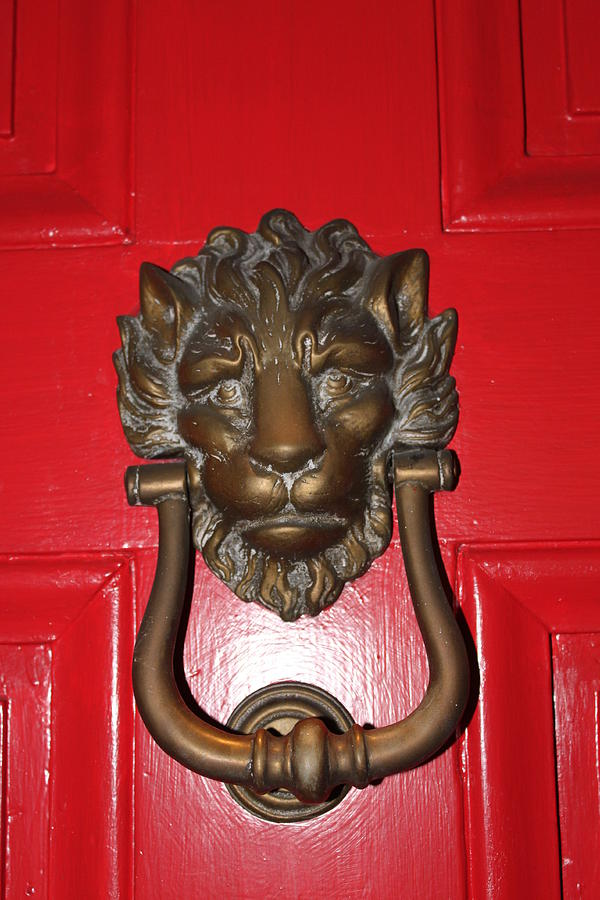 New Orleans Photograph - Lion Head Door Knocker by Lauri Novak