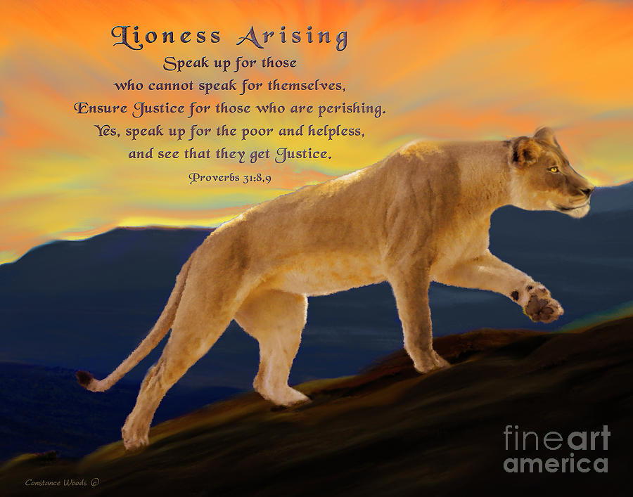 Lioness Arising Justice by Constance Woods