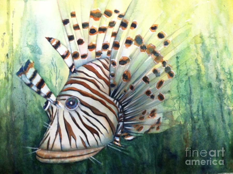 Lionfish Painting - Lionfish by Midge Pippel