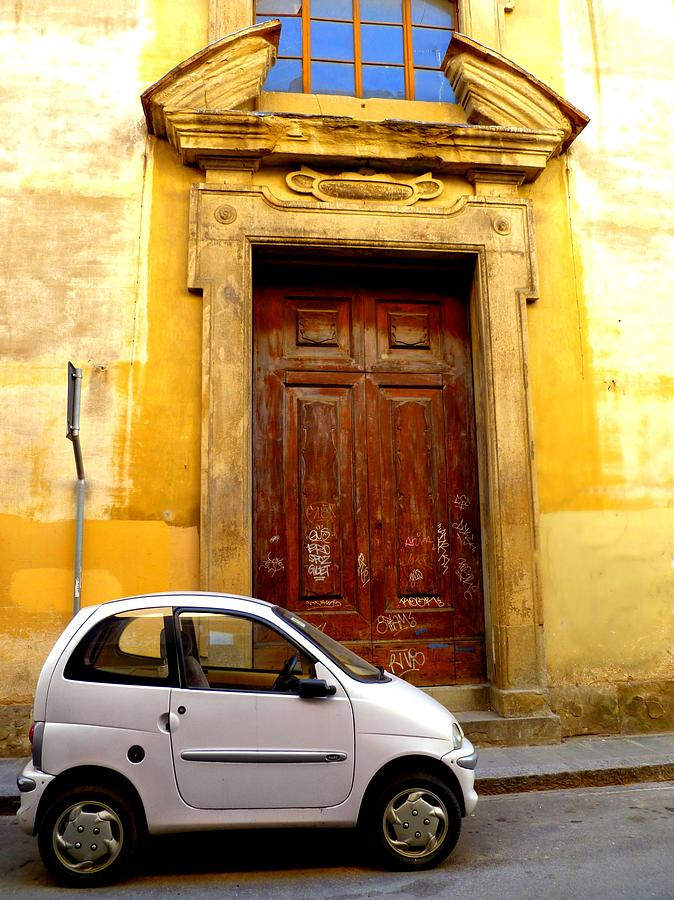 Florence Photograph - Little Car Of Florence by Jen White
