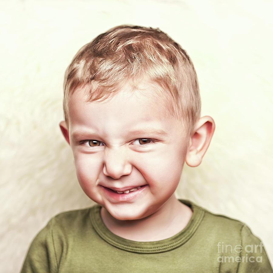 Child Photograph - Little Child Portrait by Gualtiero Boffi