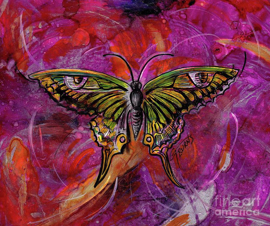 Little Green Butterfly  by GG Burns
