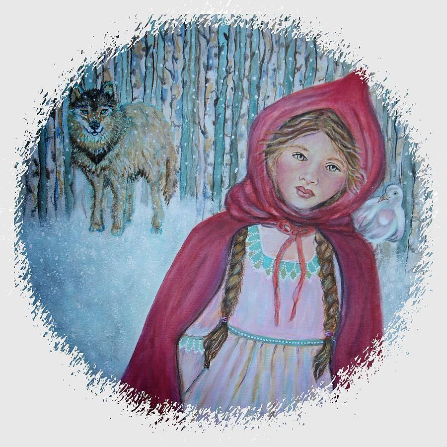 Little Red Riding Hood Painting - Little Red Riding Hood  by The Art With A Heart By Charlotte Phillips
