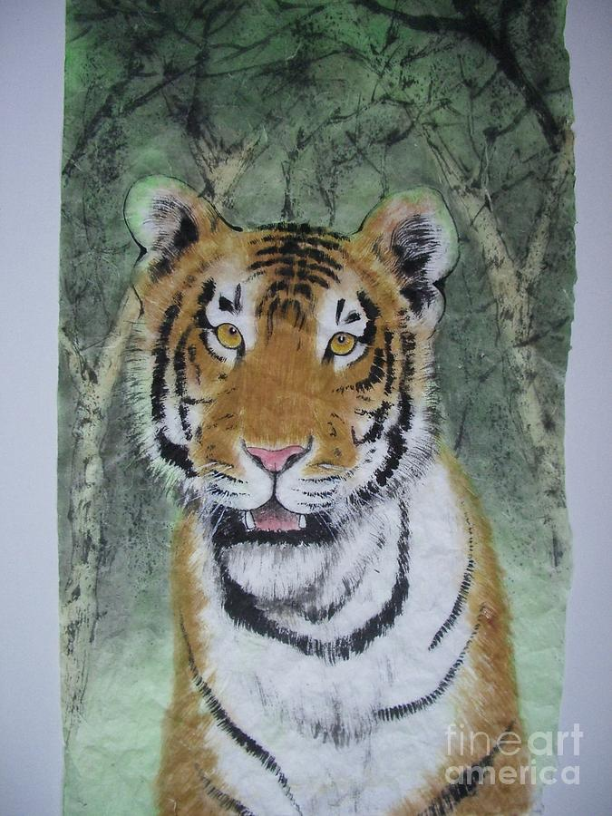 Tiger Painting - Little Tiger by Jian Hua Li