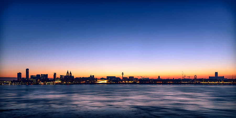 England Photograph - Liverpool Skyline by Peter OReilly