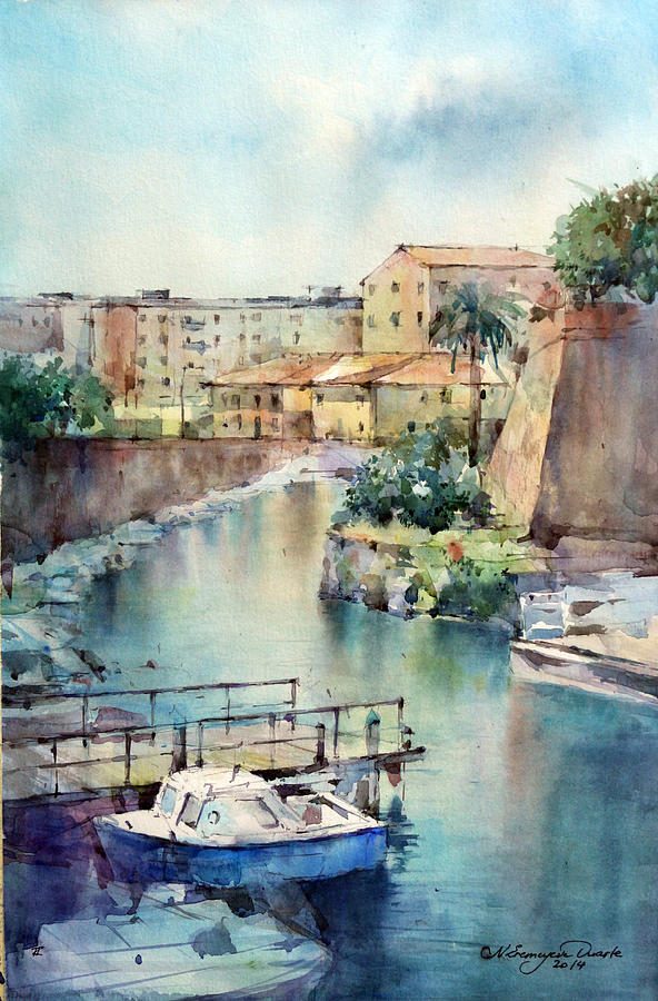 Livorno Painting - Livorno - Italy by Natalia Eremeyeva Duarte